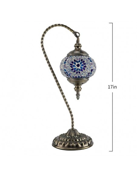Mosaic Table Lamp Marrakech Swan Neck