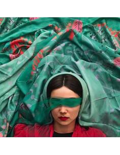 green-scarf-twill-fabric