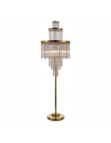 Brass Floor Lamp Rain Drop Glass