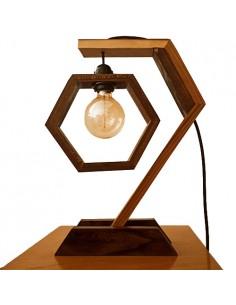 Elm Wood Modern Desk Lamp Emacho Model