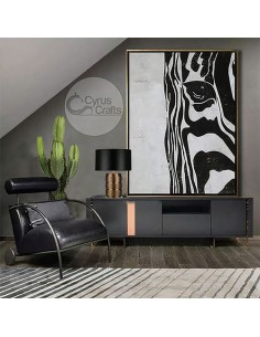 Zebra Z Acrylic Abstract Painting Wall Art