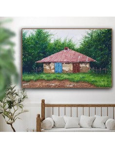 Singular Painting The Country House by Narges Amini - Wall Art