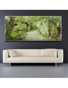 Flourish Alley Tabriz 100% Hand-Woven Tableau Rug Pictorial Carpet Wall Art