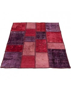 Colored Hand-woven Collage Carpet Rc-163 full view