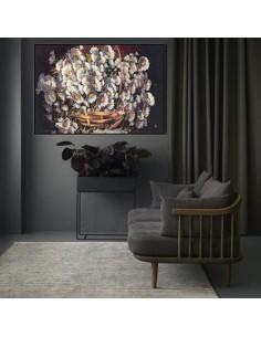 Flower Pot v01 High KPSI Tableau Rug (Pictorial Carpet) Wall Art