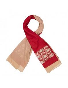 Floral-crimson-scarf