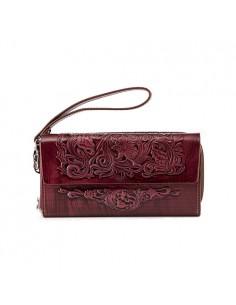 flower-patterned-crimson-leather-wallet