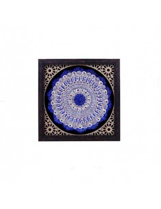beautiful enamel shaped piece features hand-painted