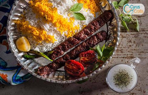 persian rice and kabab