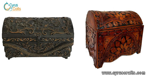 marquetry and wooden boxes
