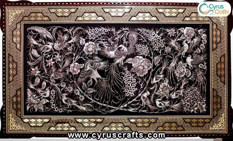 inlay metal tablou