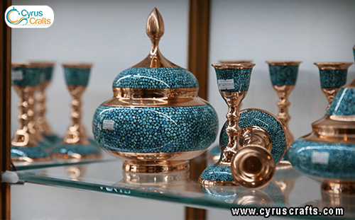 turquoise inlay containers