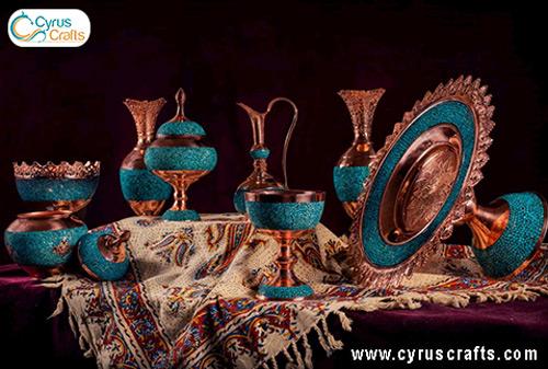 turquoise inlay vases