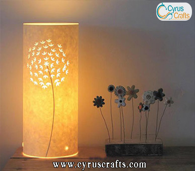 decorative table and desk lamp