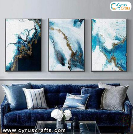 interior design abstract paintings