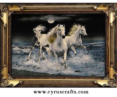 horse decprative wall hanging carpet (tableau)