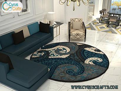 circular rug and carpet