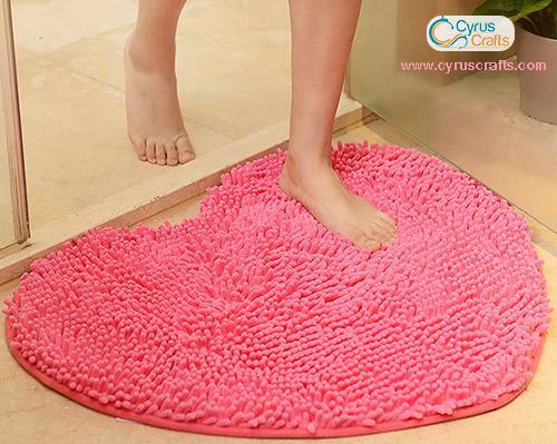 heart-shaped doormat