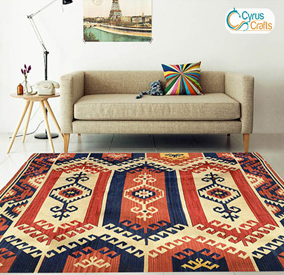 handmade carpet in home decoration design