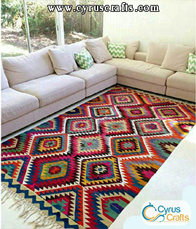persian kilim in home decoration